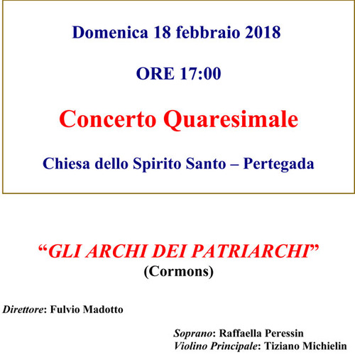 CONCERTO QUARESIMALE